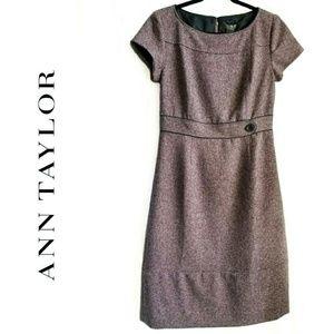 ANN TAYLOR beautiful purpleTweed dress like new!